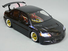 Custom RC 1/10 Drift MITSUBISHI LANCER EVOLUTION EVO AWD BELT CAR RTR w/ LED