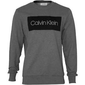 7810f2cc2316 Image is loading Calvin-Klein-Block-Logo-Crew-Neck-Men-039-