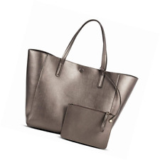 15cda2e11f9d item 1 Merona Women's Reversible Tote with Removable Pouch (Pewter/Silver,  13