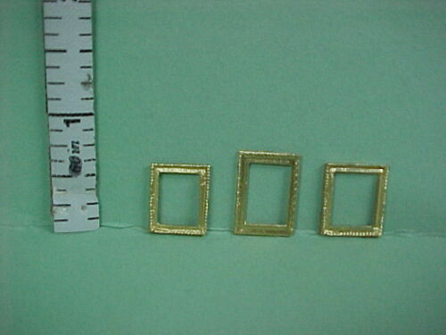 Dollhouse Miniature Picture Frames #28a,b,c Painted Metal Miniature