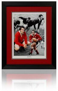 Large-GARETH-EDWARDS-Hand-Signed-Framed-WALES-Rugby-WRU-Montage-COA-AFTAL
