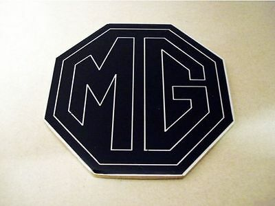 NEW Enamel Chrome Black MG BADGE 69mm MGF MGTF TF