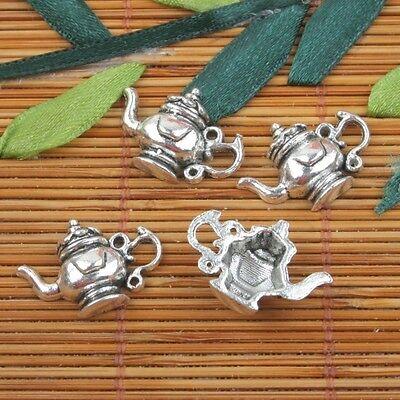 60Pcs Tibetan Silver Tone Smooth Heart Charms Connectors 8x15mm