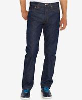 Men Levi's 501 Original (Shrink - To - Fit) Rigid Indigo Blue Button Fly Jeans