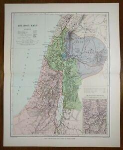Vintage-1896-HOLY-LAND-Atlas-Map-11-034-x14-034-Old-Antique-BIBLICAL-BIRTHPLACE-BIBLE