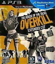 The House of the Dead Overkill Extended Cut PS3! MOVE COMPATIBLE! ZOMBIES, GORE