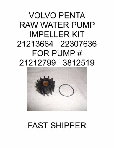 AFTERMARKET VOLVO PENTA RAW WATER PUMP IMPELLER KIT FOR  21213664   22307636 /%