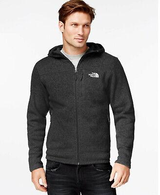 New Mens The North Face Gordon Lyon Full Zip Top Coat Jacket Black Grey