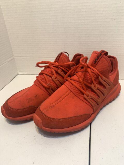 Size 11 - adidas Tubular Radial Red