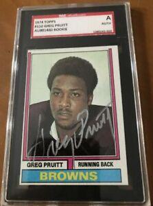 1974 Topps Greg Pruitt SGC Cert Signed Autograph Browns Rookie Card NICE C