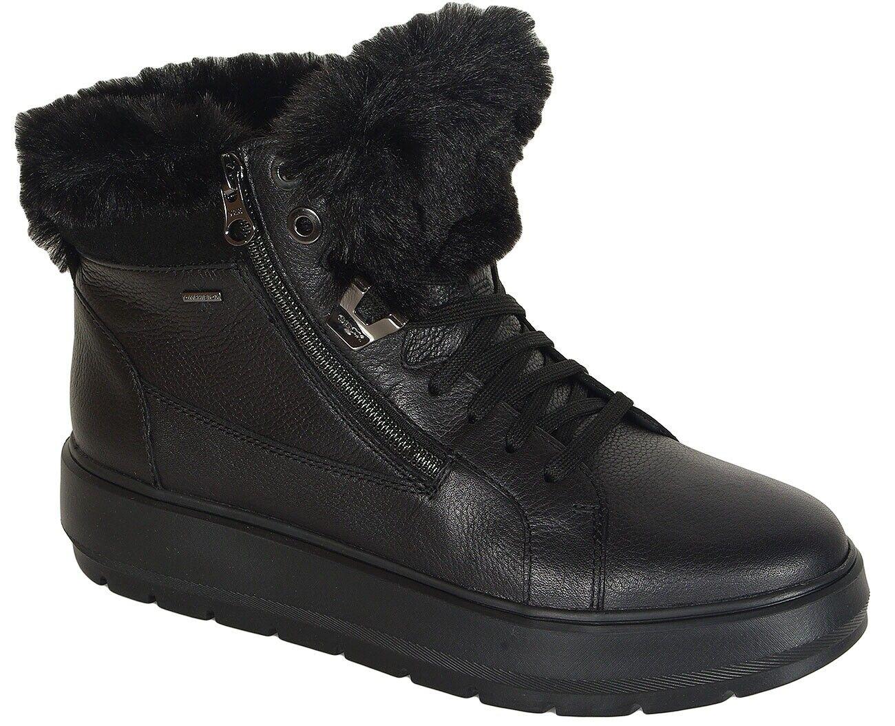rotuzierung Geox Kaula B Turnschuhe ABX leather schwarz