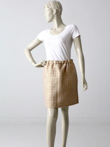 Marni gold metallic skirt