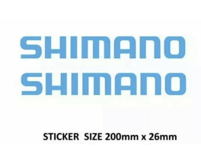 PAIR Shimano Stickers Decals Blue 200mm suit Fishing Family Boat Outboard Tackle