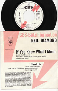 NEIL-DIAMOND-IF-YOU-KNOW-WHAT-I-MEAN-Ultrarare-1976-german-PROMO-P-S-Single