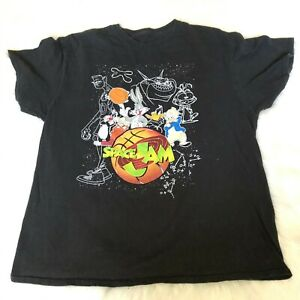 SPACE-JAM-Men-039-s-XL-T-Shirt-Retro-90s-Movie-Basketball-Looney-Tunes
