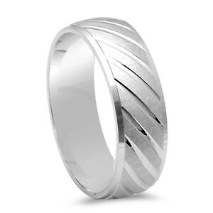 Men S Fancy Designer Diamond Cut Wedding Band 925 Sterling Silver