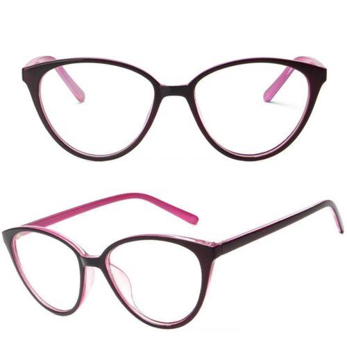 Womens Cat Eye Fashion Clear Lens Glasses Anti Glare Lens