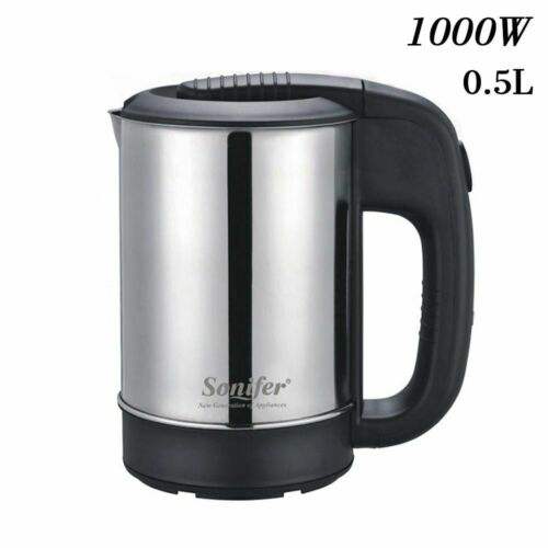 Mini Electric Kettle Stainless Steel Portable Travel Water Boiler 0.5l 1000w