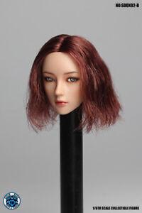 "1/6 Super Duck Brown Short Hair Head Sculpt SDDX02B For 12"" Female Action Figure"