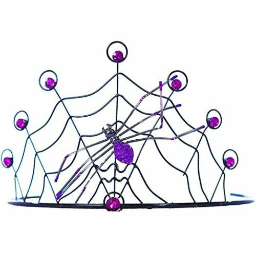 Spider Web Crown Accessory Available in Your Choice of Red or Purple