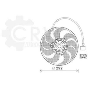 Fan Engine Cooling Radiator Fan Blower Motor for Skoda VW Seat Fabia Notchback