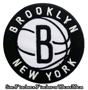 BROOKLYN NEW YORK Logo NBA Basketball Sport Patches iron,Sewing on Clothes