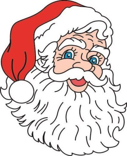 Autocollant Père Noël Tête Noël des autocollants autocollant