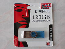 Kingston 128GB USB2.0/3.0 Data Traveler 101, G2 Flash Memory Stick Pen Drive