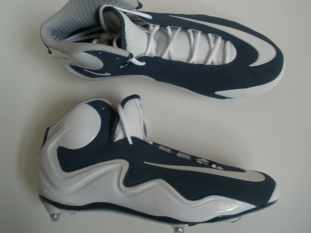 Nike AIR ZOOM FLYPOSITE FOOTBALL CLEATS DETACHABLE Blanc NAVY  US 13 EUR 47.5