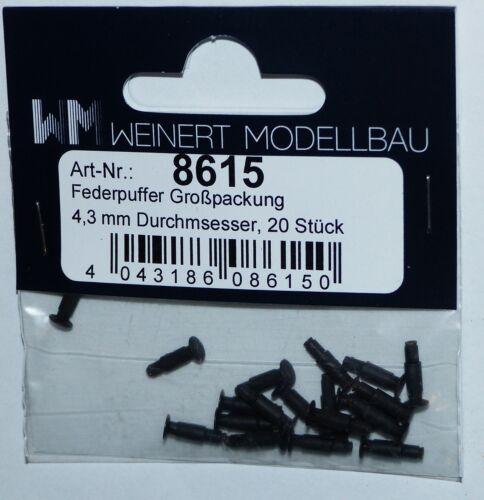 Weinert 8615 muelle búfer 20 unidades de 4,3 mm para locomotoras diesel y carro h0 1 a 87