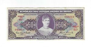 50 Cruzeiros Brésil 1960 c092/p.161c - Brazil billet