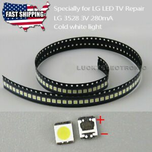 Original For LG LED TV Strip Bar Repair 100pcs 3528 2835 3V SMD Lamp Beads