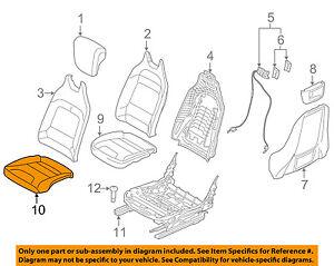 BMW-OEM-14-16-i3-Front-Seat-Cushion-Bottom-Cover-Left-52107365695