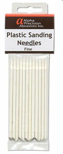 Alpha Abrasives #0403 Plastic Sanding Needles Fine Grit