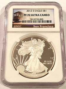 2012-S-AMERICAN-SILVER-EAGLE-NGC-PF70-ULTRA-CAMEO-SAN-FRANCISCO-MINT-TROLLEY