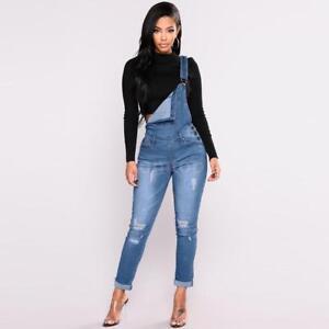 5aefaed6042d Women Sexy Denim Jeans BIB Pants Overalls Straps Jumpsuit Rompers ...