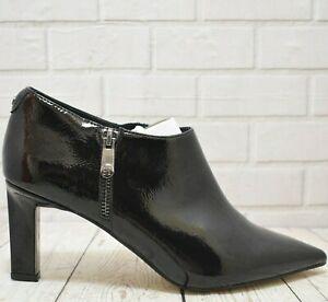 Womens Moda in Pelle Black Patent Like Zip Up High Heels UK 6 EUR 39 RRP £89