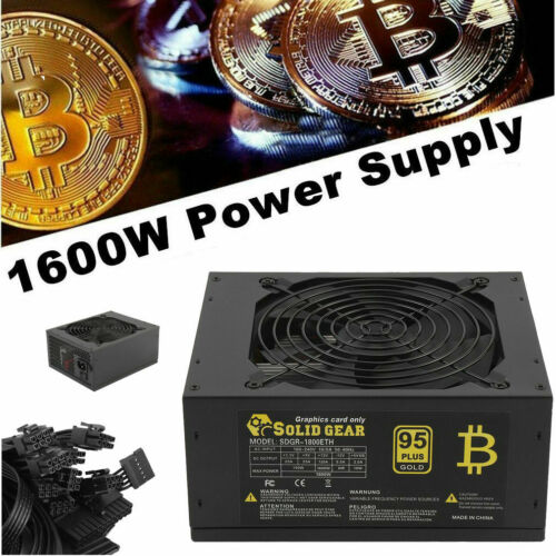 1600W 180v 6 GPU Card Mining Power Supply ETC ETH Rig Ethereum Bitcoin 90 WF