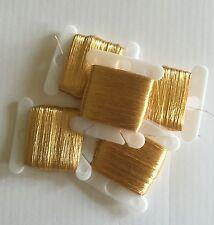 Real Gold Leaf Thread: 75 yards on a bobbin