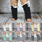 Kids Baby Girls Warm Crochet Knit Lace Trim Leg Warmers Cuffs Toppers Boot Socks