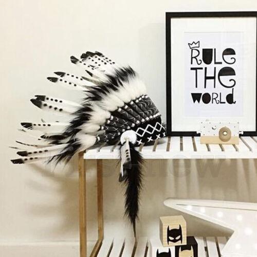 Indian Feather Headpiece Native American Chief Headdress Unisex Tablita Headwear