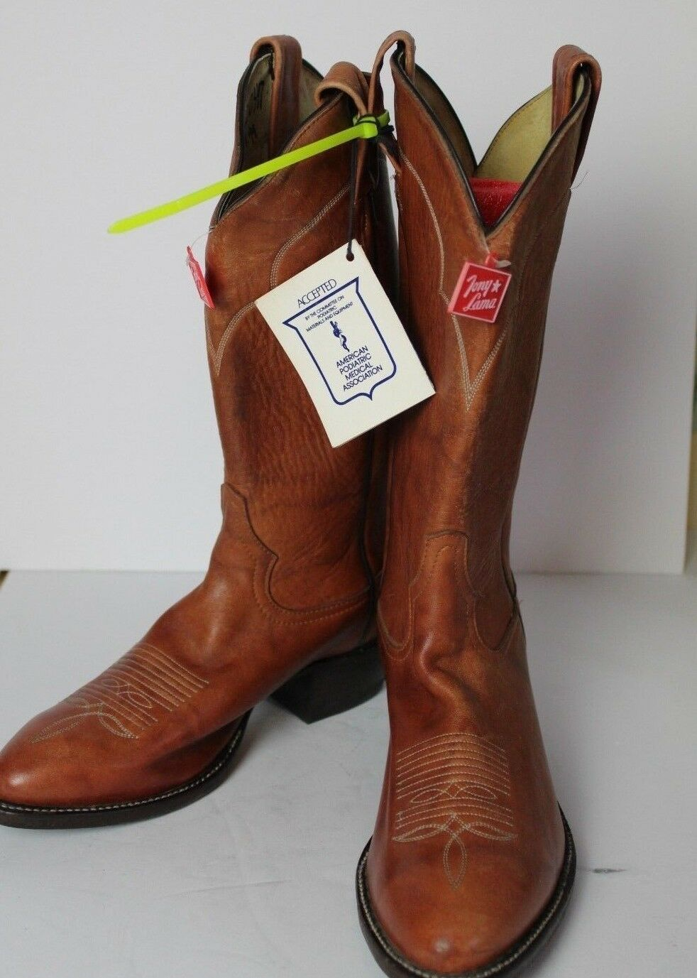Tony Lama Western Leather Stiefel Größe 8D braun 32653 New