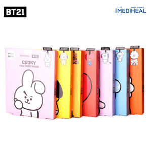 BTS-Official-BT21-Mediheal-Face-Point-Mask-Sheet-4pcs-Bookmark-Postcard