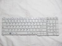 Genuine For Toshiba Satellite L655-s5107 White Keyboard