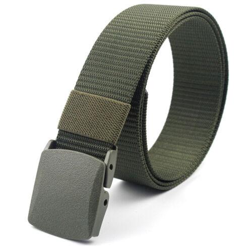 Men/'s Military Outdoor Sport Military Tactical Nylon Waistband Canvas Web Belt@