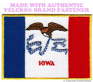 OKLAHOMA STATE FLAG PATCH EMBROIDERED SYMBOL APPLIQUE w// VELCRO® Brand Fastener