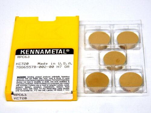 5 Pc Kennametal RPC63 Carbide Insert KC720 ....................... 6-1-1