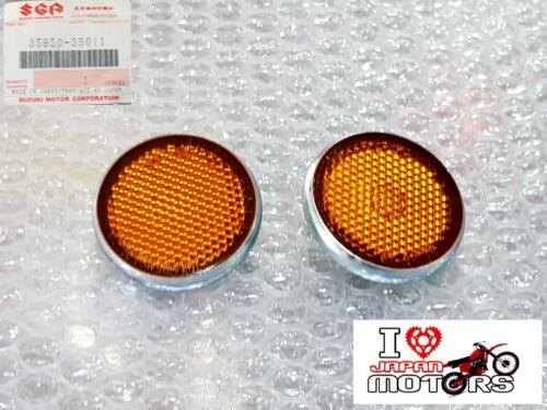 SUZUKI FM50 GP100 GP125 TS125ER NEW GENUINE REFLEX REFLECTOR PAIR 35950-35011
