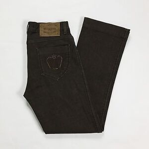 Max-Mara-weekend-fit-w28-tg-42-jeans-donna-straight-dritti-marrone-usato-T1385