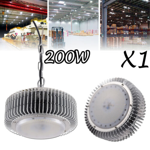 200W LED High Bay Light Bright Warehouse Fixture Factory Commercial GYM Lighting